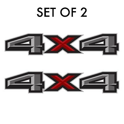 Set of 2: 2018 Ford F-150 4X4 off-road vinyl decal sticker pickup truck side bed