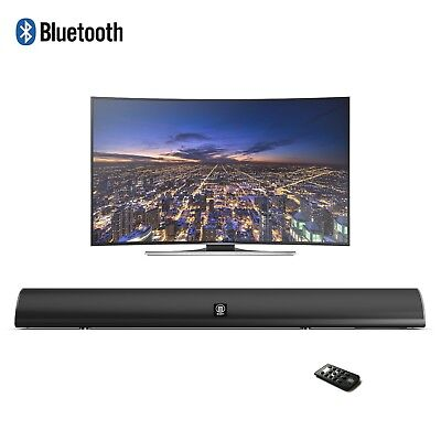 Majority 120W TV Sound Bar with Bluetooth 2 Channel Optical Audio Wall Mountable