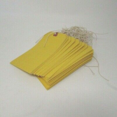 Vintage Office Shipping Tags Large With String Ties 32 Items
