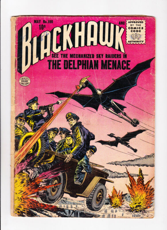 Blackhawk  No.100  :: 1956 ::   :: Mechanized Sky Raiders Cover! ::