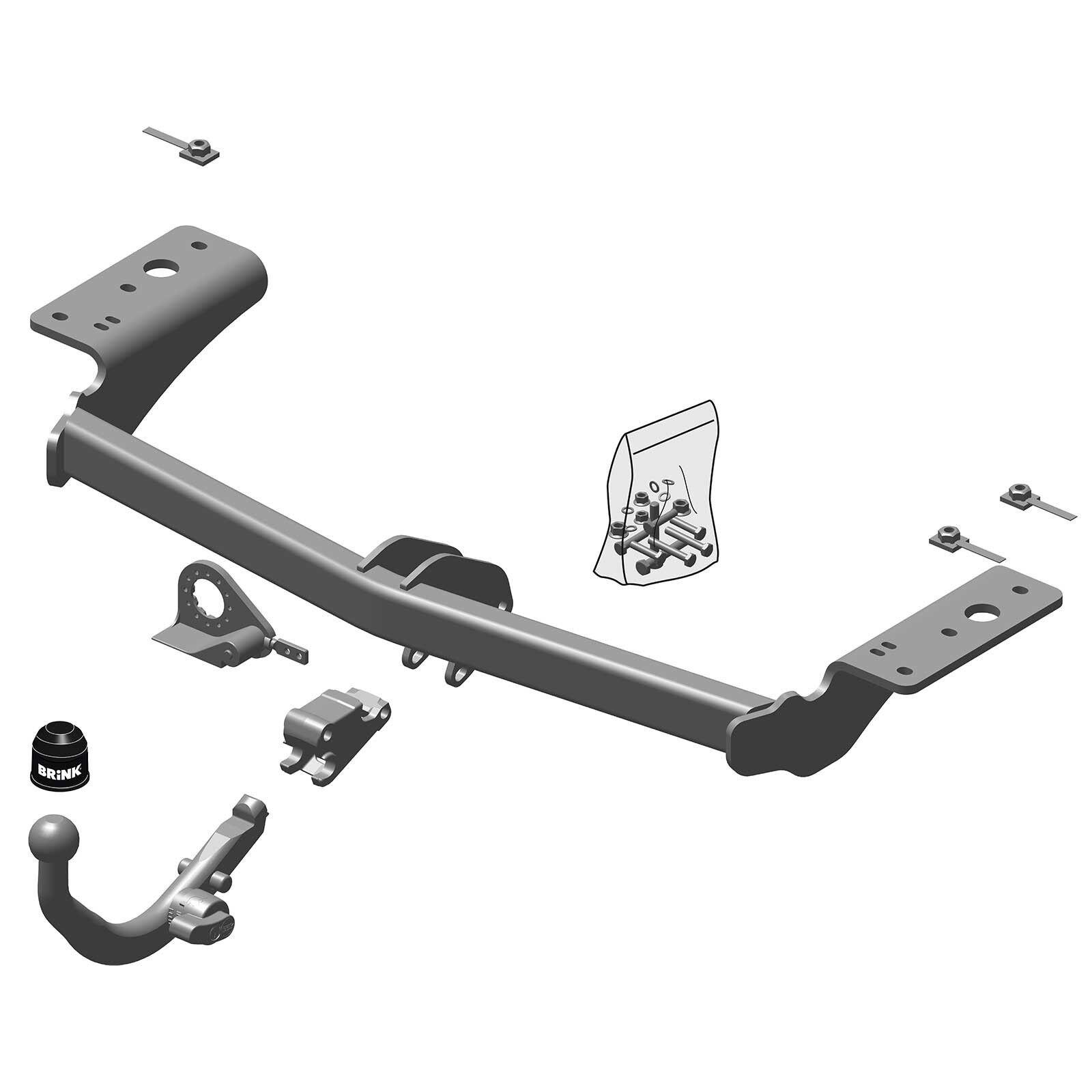 Brink Towbar for Chrysler 300C Saloon 2004-2010 - Detachable Tow Bar 8712762043790 | eBay