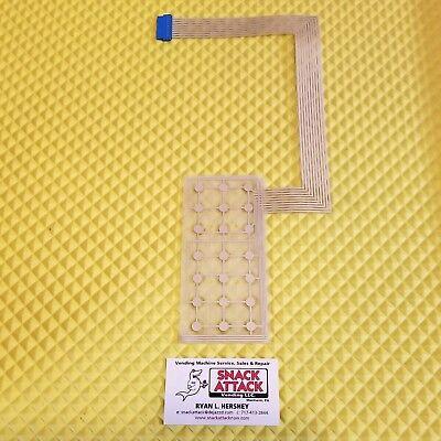 Crane National 147 148 474 475 Snack Vending Machine Key Pad Membrane - New