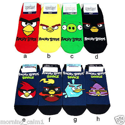 8 Ps Authentic Angry Birds Fashion Ankle Socks Teen Boy Girl Women Birthday Gift