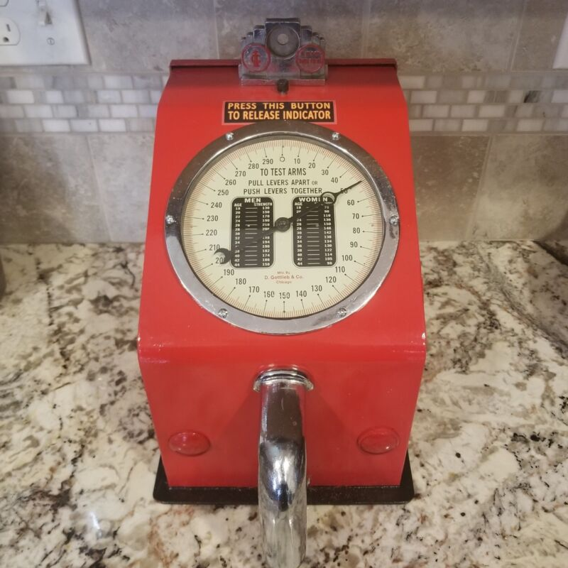 Gottlieb Vintage Grip Strength Tester Penny Arcade Game