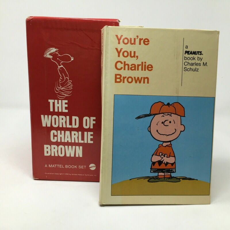Vintage Mattel Boxed The World of Charlie Brown Set of 9 Double Books 1960