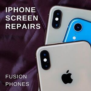 IPHONE CRACKED SCREEN BACK GLASS 12 MONTH WARRANTY