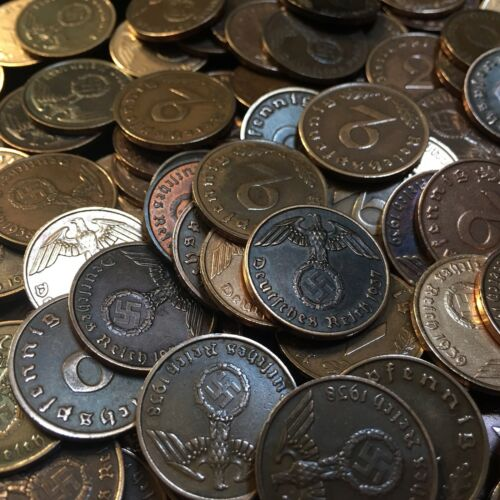Купить Rare WW2 German 2 RP Reichspfennig 3rd Reich Bronze Nazi Coin Buy 3 Get 1 Free