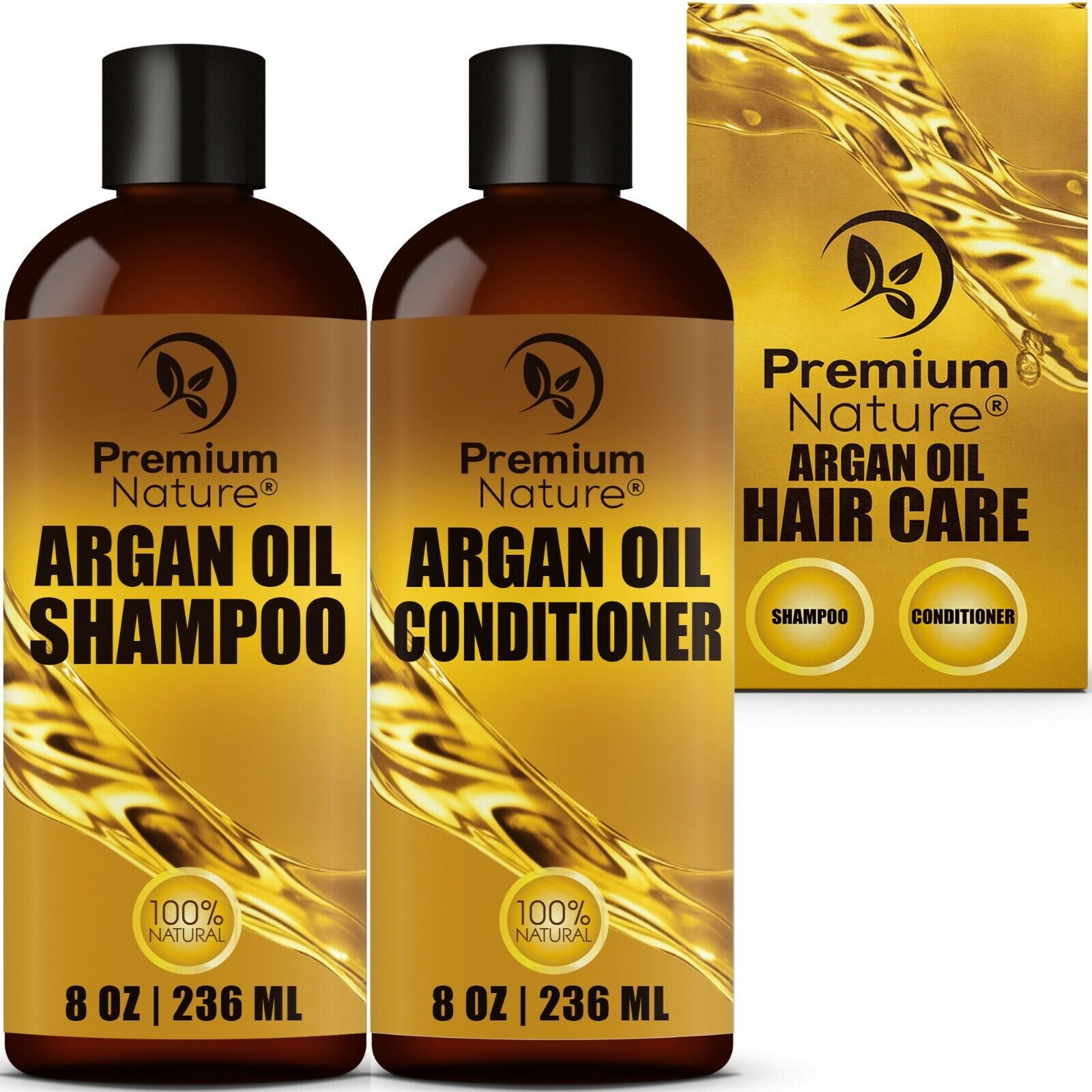Argan Oil Shampoo and Conditioner Sulfate Free All Natural H