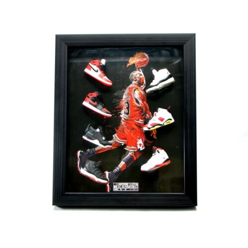 Hypebeast Sneakerhead 3D Sneakers Photo Frame with 7 Mini Sneakers USA Seller