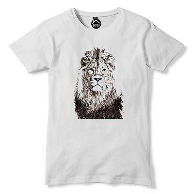 Lion Face T Shirt Cut Out Abstract Design Tshirt Wildlife Animal tee Gift 157