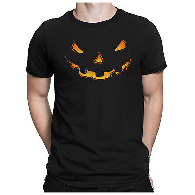 Pumpkin Head Herren Fun T-Shirt - Halloween Kostüm Kürbiskopf Horror - - Fun Herren Kostüm