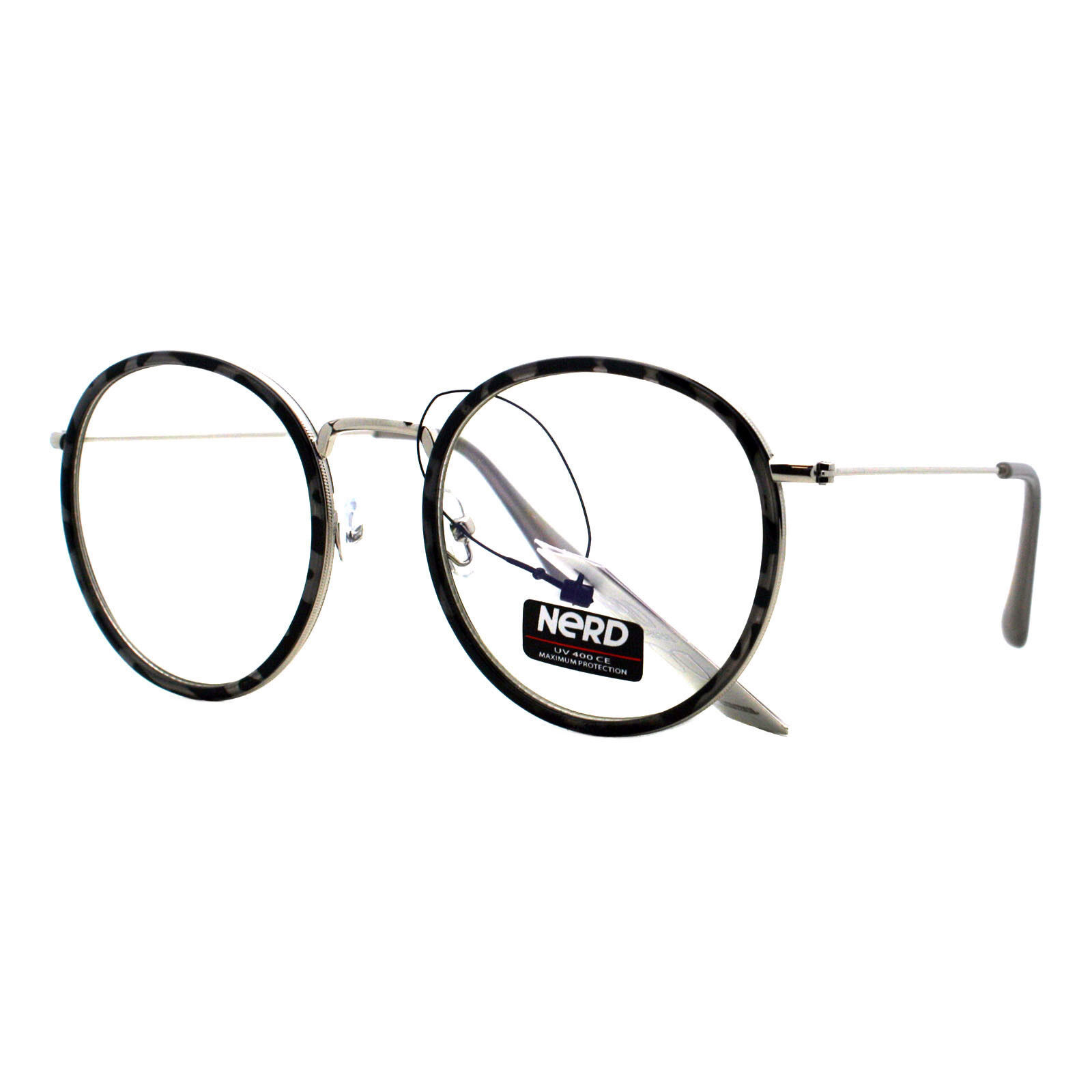 673b335b10 Vintage Fashion Clear Lens Glasses Round Double Frame Eyeglasses UV 400