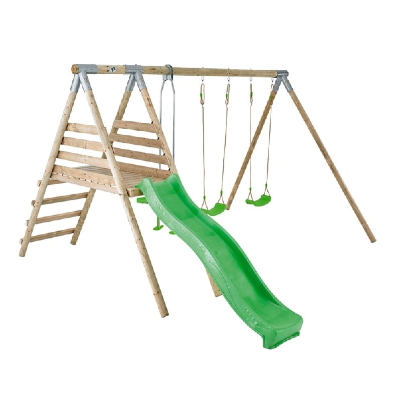 Luxury Solid Wooden Outdoor Multi Swing Seesaw Slide