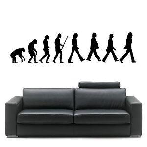 Evolution Of Man The Beatles Wall Art Room Sticker Vinyl Music Decal Ebay
