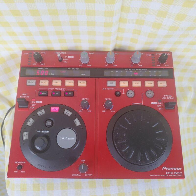 RARE Red Pioneer EFX-500-R Enferno DJ Performance Effector Isolator / Beat FX