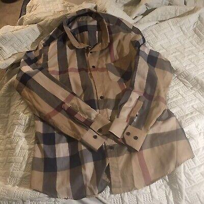 Burberry Brit Long Sleeve Button Down Shirt Mens Large