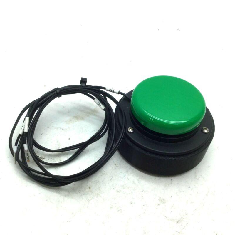 "Ablenet 10033400 Jelly Bean Twist Twitch Push Button Switch 2.5"" Green, Leeds"