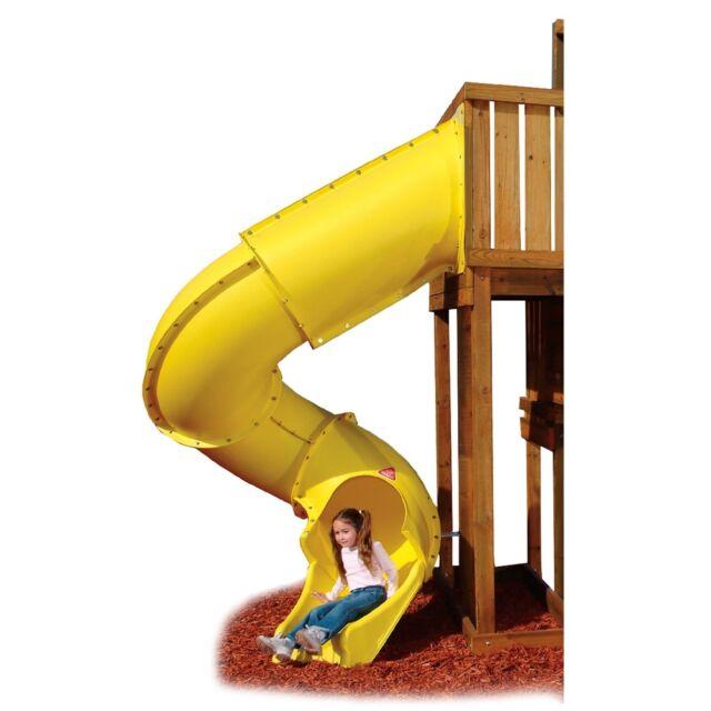 Swing Play Set Backyard Jungle Gym Playground Lawn Outdoor Turbo Slide  Yellow