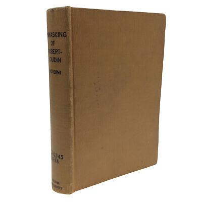 1908 1st The Unmasking of Robert Houdin HARRY HOUDINI Ex Indiana Library Binding