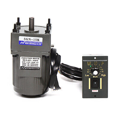 110v Ac Gear Motor Electric Motor Variable Speed Controller 40w 90 Rmpmin 15k
