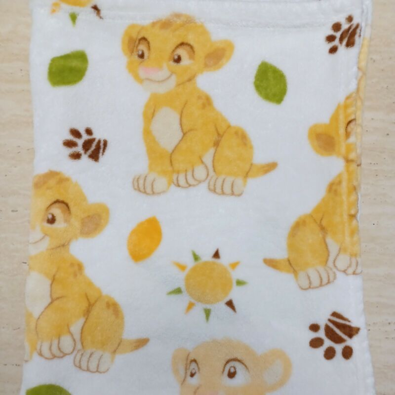 Lion King Simba and Nala Plush Baby Blanket Disney Baby paw leaf sun