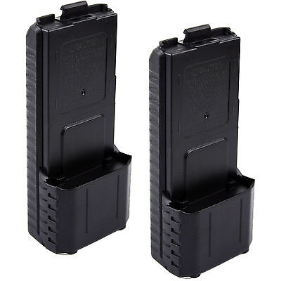 2 pcs AAX6 Extended Battery Case/Shell for Baofeng BF-UV5R 5RB 5RE 5REPlus TYT