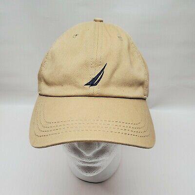 Nautica Anchor J-Class Khaki Cotton Cap Baseball Hat (One Size Fits Most)