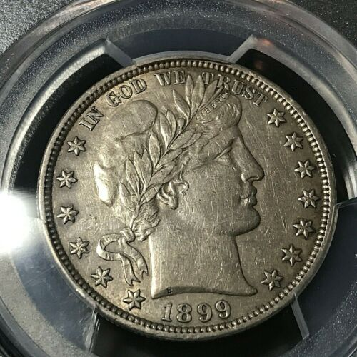 1899 BARBER HALF DOLLAR PCGS AU DETAILS  SILVER COIN
