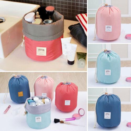 Women Round Cosmetic Portable Make Up Bag Holder Drawstring