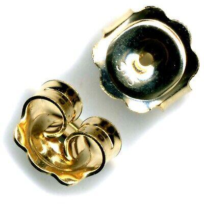 9ct Gelbgold Schmetterling Ohrring Rückseite Scrolls Push Fit Heavy (1pr - FS111 ()