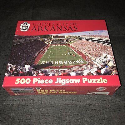Arkansas Razorbacks Puzzle College Football Donald W. Reynolds Stadium New NIB