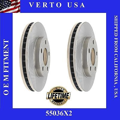 New Pair Of (2) Premium Front Brake Rotors for a Buick Chevy Oldsmobile Pontiac