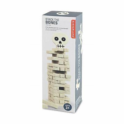 Kikkerland Stack The Bones Game Wooden Fun Stacking Kids Halloween Game Gift](Halloween Bones Game)
