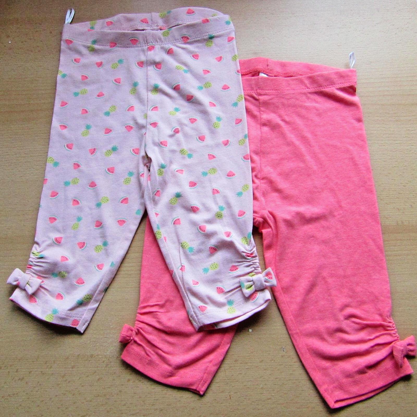 Baby Mädchen Caprileggings Leggings 2 Stück rosa  NEU mit Etikett