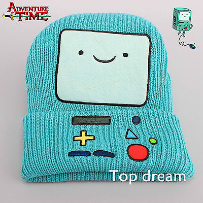 Adventure Time with Finn and Jake Beemo BMO Beanie Plush Hat Costume Cosplay