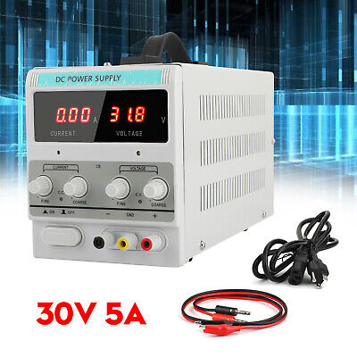 Adjustable Power Supply 30v 5a 110v Precision Variable Dc Digital Lab Wclip A3