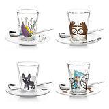 Ritzenhoff Bacino Espresso Glasset doppelwandig m. Untertasse u. Löffel 70ml 2er