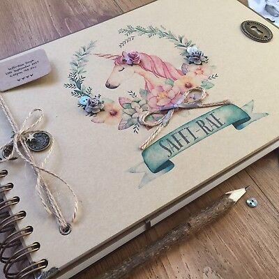 Personalised Baby Memory Book/ Scrapbook/ Photo Album/ Guest