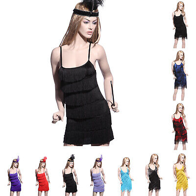 20er Jahre Charleston Fransen-Kleid Flapper Karneval Kostüm Fasching - Flapper 20er Kleider