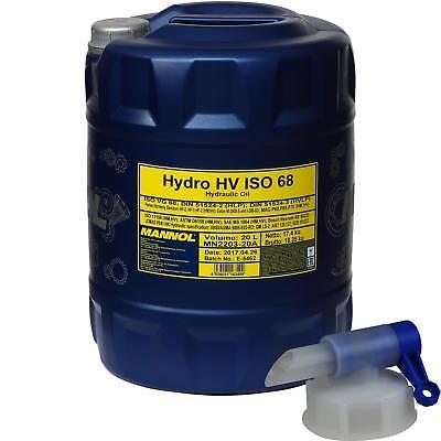 20 Litros Mannol Hydro Hv Iso 68 Hvlp 68 Aceite Hidráulico Oil Aceite Incl.