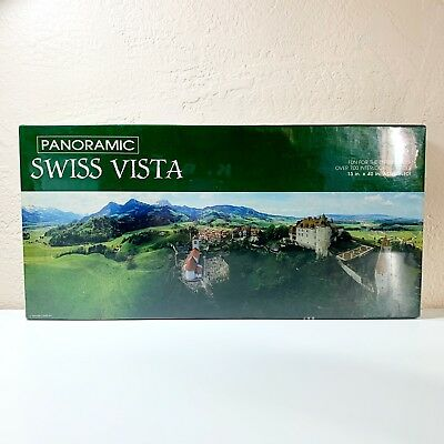 Springbok Panoramic Swiss Vista 700+ Piece Puzzle Gruyeres Switzerland 13 x 40 ()