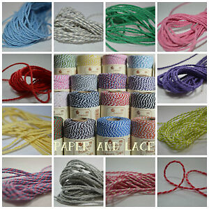 10m-LENGTH-Beautiful-BAKERS-TWINE-Christmas-Divine-Colours-UK-Everlasto-4ply