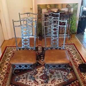 4 great chairs aged metal