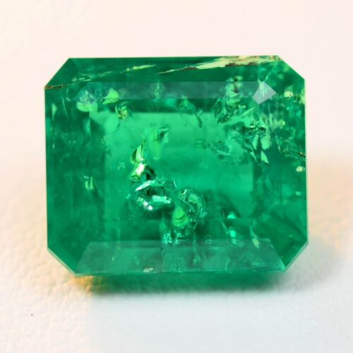 5.93ct Colombian Hydrothermal Emerald Lab Created Loose Stone