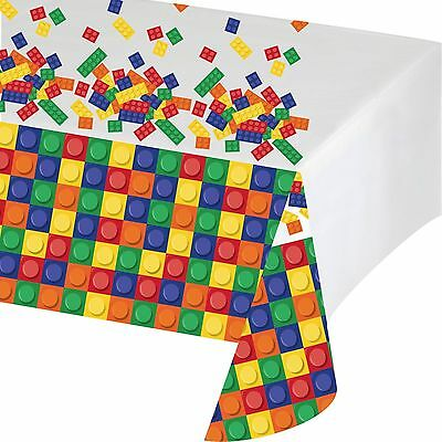 Building Blocks Plastic Party Tablecloth - 4.5Ft x 7Ft - Children's Party - New