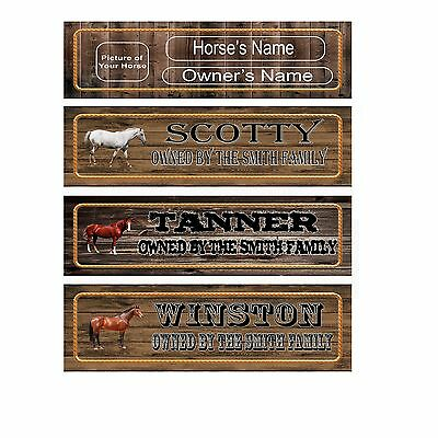 """LARGE CUSTOM Horse Sign Name Plate Stall 18"""" Personalized to your Specification"""