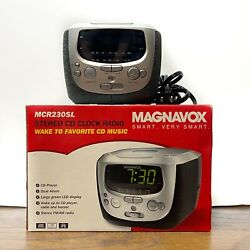 Magnavox Wide Angle Stereo CD Player Am Fm Radio Alarm Clock MCR230SL/17