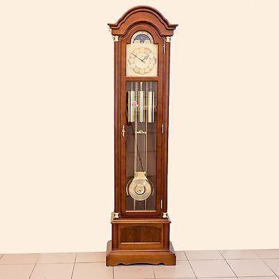 Elegante AMS 2019/1 Pendelstanduhr mit mehrfachem Glockenschlag und Mondphase