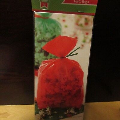 Green Cellophane (2x  Wilton red and green cellophane Party Favor Treat Bags 20 pcs with)