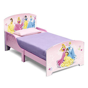 NEW DELTA CHILDREN DISNEY PRINCESS WOODEN GIRLS JUNIOR TODDLER STARTER BED